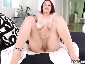 Huge tits are washed in the shower
