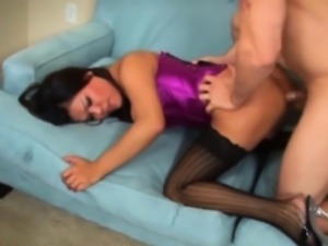 Extreme hot shemale and her cute super lover
