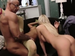 Antonia and Romana mix things up at the swingers club by...