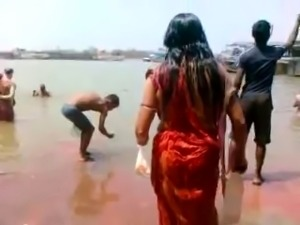 Big Nipples Aunty Bath in River Hot Ass Side View of Boobs