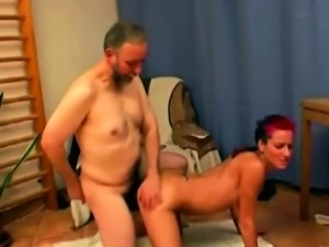 Punk fucking with grandpa