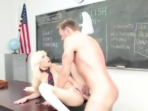 Tiny schoolgirl gets cum