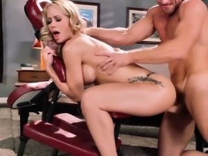Busty massage milf fucking before cumswallow
