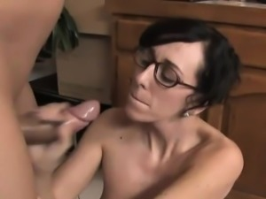 Alia gets her glasses covered in spunk