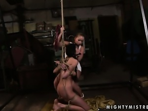 Blonde Kathia Nobili enjoys another lesbian sex session with her lover Lory