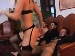 Bobbi Starr lets three studs dick her