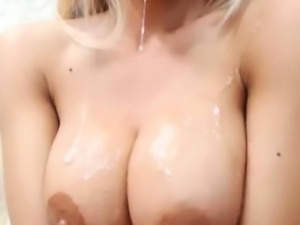 Blonde Webcam Girl Deepthroating Toy