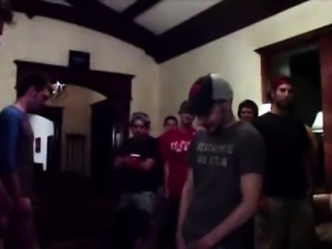 Handsome straight teens suck cock for gay fraternity group