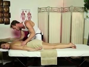 Teen gets nude massage