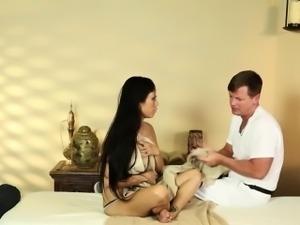 Luxury busty beauties in secret massage saloon