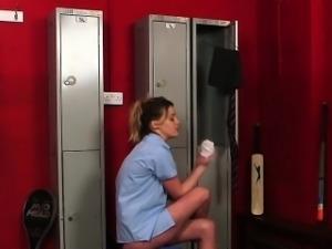 Cfnm teen blowing cock