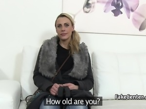 Milf got cum in her mouth on casting