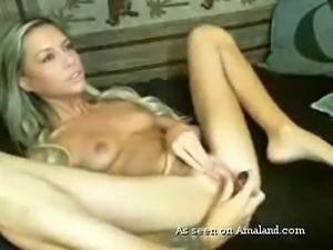 skinny slut masturbates on webcam