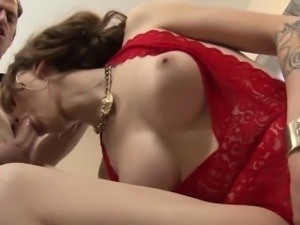 subtle busty shemale banged in her ass