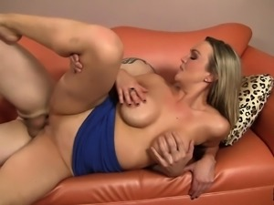 Big breasted blonde cougar Abbey Brooks has a passion for young meat