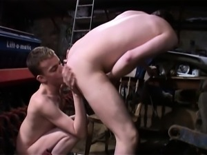 Two lustful young cowboys satisfy their wild anal urges in the barn