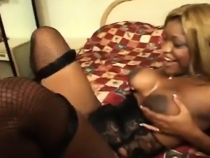 Curvaceous Raven Sky gets pounded hard by Dwayne Cummings on the bed