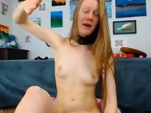 Anal Dildo Ride till Cum Redhead Slut
