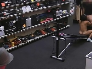 Muscular chick screwed by nasty pawn guy at the pawnshop
