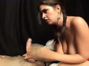 Femdom Babe Starts Off With A Footjob