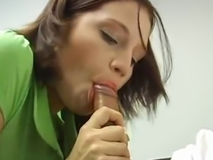 Horny Brandi Belle tugjob And cocksuck at that point