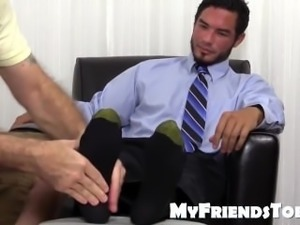 RJ loves foot worshiping after massage and rubdown