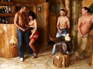 A hooker in the log cabin