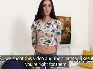 Casting agent fucks hairy pussy
