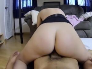 Rosy rides a big cock