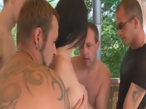 Mix of amateur swnger orgy scenes