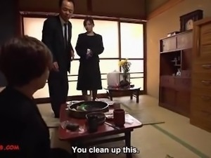 Japanese widow get fucked by her brother in law