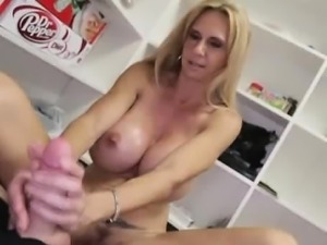 When big boob mom Brooke Tyler discovers her step son has