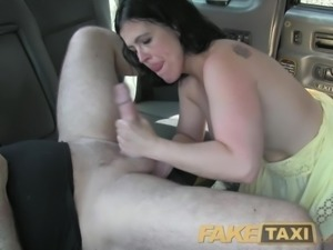 FakeTaxi Spanish lady returns for taxi fuck