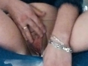 Massaging my both holes, while in pantyhose
