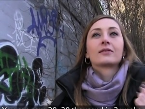 Casting agent fucking babe outdoors