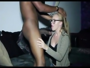 Blond Suck and Fuck BBC- Who is this blond hoe?