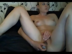 blonde fingers ass dildo's pussy doggy style