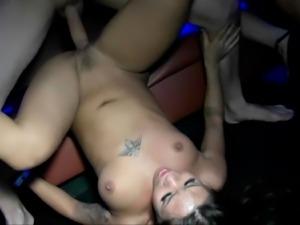 Hot Brunette Penetrated Well With Long Boner