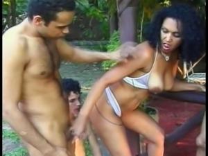 Hot sluts banged by bi-sexual guys outdoors