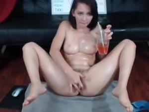 Teen masturbating vibrator fingering squirts multi-orgasms
