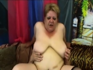 Fat mature lady in black stockings Venuse gets banged by Frank Tyler