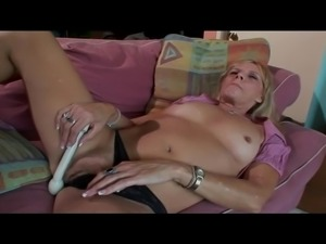 Even if she just hit her sixties, Nina, a skilled blonde granny, takes a...