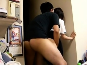 Asian beauty enjoys her lovers prick deep inside her twat