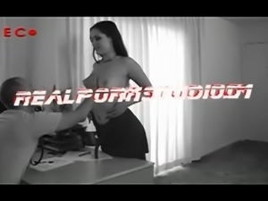 Casting another desperate skinny porn hooker takes it up the anal shitter and...