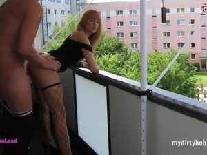 My Dirty Hobby - LanaLoud auf dem Balkon gefickt