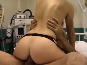 Nurse Tiffany Doll fucking in black stocking