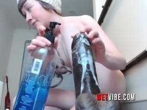 Blonde Teen Rides to WETVIBE Sex Toy Fun Make Her Drip More