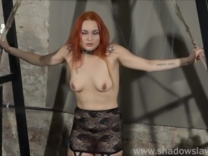Redhead play piercing slave Marys lesbian bdsm and needle punishment of...