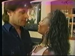 Vintage IR - Ebony loves white cock
