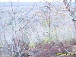 extreme wild african sex safari threesome fuck orgy in nature